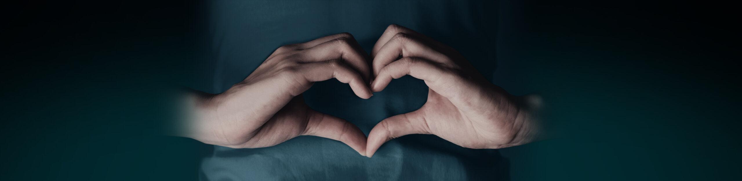 Heart Hands Blue